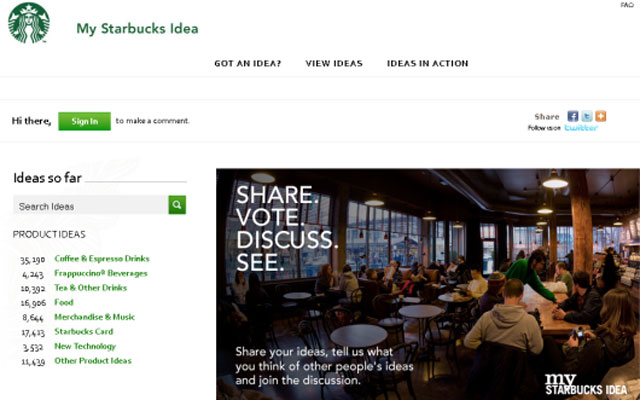 Crowdsourcing Starbucks